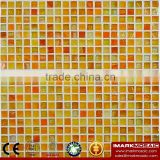 IMARK Yellow Gold Star Glass Mosaic Tile Mix Quartz Glass Mosaic Tile Kitchen Tile Bathroom Tile Wall Art Mosaic Tile Cheap Tile
