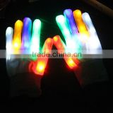 New rainbow LED luminous Gloves White colorful LED flash magic gloves LED light emitting gloves
