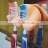 Cute feet versatile styling winding clip / toothbrush holder / Suction Cup Toothbrush Holder