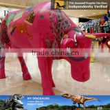 My Dino-C046 Handmade animated life-size fiberglass cow model