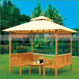 canvas gazebos garden, outdoor pavilion 3x3m, wooden gazebo