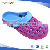 Fresh breathable hole colorful blue and pink cheap eva material clogs sandals shoes for women