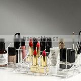 Large Acrylic Jewelry & Cosmetic Storage Makeup Organizer Trays Dividers 13''*5''*4'' (Clear)(MO-B-0247)
