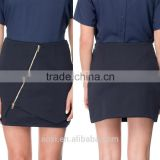 Oem clothes supplier latest design bodycon short fashion plain pattern ladies office skirts