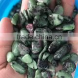 Hot sale nature bottle green gravel crystal for fish tank ornament