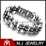 Men's bike chain bracelet stainless steel motorcycle chain bracelet jewelry wholesale