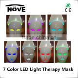 Wholesales Seven Colors best quality anti aging skin care electric derma stamp facial led facial mask