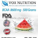 BCAA Post Workout Powder 8600 mg. Supplement Bulk Powder - Private Label BCAA Post Workout Powder Supplement