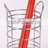 Chrome Plated standing Iron Wire chopstick drainer