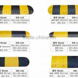 balck and yellow rubber speed hump,speed breaker