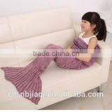 Mermaid Tail Blanket Crochet and Mermaid Blanket for kids,Summer Super Soft Sleeping Bags