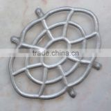 oval shape nickel plated trivet