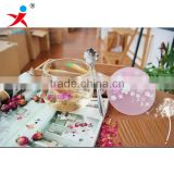 heat-resistant flower tea cups/milk cup/coffee cup with High borosilicate clear glass material