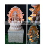 Antique Style Resin Hindu God Ganesh Water Fountain for Gifts