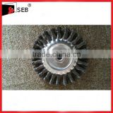 75-200mm Knotted Twist Wire Brush wheels