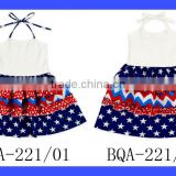Western One Piece Party Dress Baby Frock Design Pictures Suspenders Skirt Girls Cotton Summer Dresses