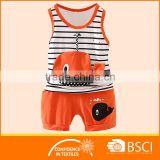 Vest Design Shirts+Short Fashion Boys Summer Outfit Casual Sets