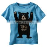 boys TOUGH GUY pattern cartoon t shirts kids summer fashion tops