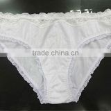Factory wholesale sexy fashion women showing white panties