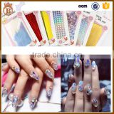11*5.2cm Shinny Laser Metallic Glitter Foils Gel Nail Sticker Holo Self-adhseive Manicure Hologram Stickers