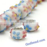 P523 colourful glass bead wholesale handmade murano lampwork glass european beads fit for charm bracelets
