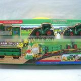 hot plastic electril railway car toy,farm truck