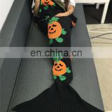 Charming colorful Mixed crotched fish tail blanket Mermaid Tail light fish blanket warm soft sleeping bag for siesta