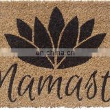 Printing Natural rubber entrance door mat, custom new design door mat, fabric top entrance mat