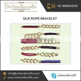 Best Quality Attractive Look Silk Rope Bracelet from Authentic Dealer