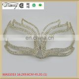 MAS1013 High Quality metal Sexy Party face alloy mask with rhinestone