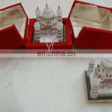 White Marble Taj Mahal Model Showpiece Handcrafted