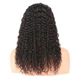 Double Layers Indian Jerry Curl 12 Inch No Damage Front Lace Human Hair Wigs