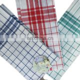 Bulk sale 100% cotton check and stripe kitchen towel set