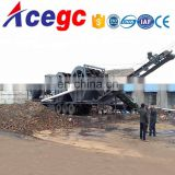 Big capacity 100-300tph mobile sand washing machine plant