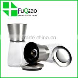 Trade Assurance OEM package Glass Manual Salt And Pepper Grinders Mills bottles with stainless steel cap                                                                         Quality Choice