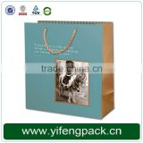 fashion custom paper shopping bag/kraft recycled shopping bag/wholesale paper shopping bag with logo