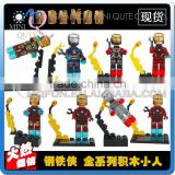 Mini Qute LEBQ 8pcs/set Marvel Avenger batman Robot super hero boys building block action figures educational toy NO.1391