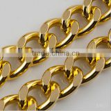 20*15mm Fashion gold color decorative aluminum chain for jewelry garment shoes                                                                         Quality Choice