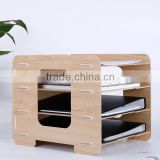 Household used wooden file storage box for office