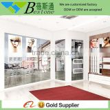 professhonal optical shop interior decorative wall wooden shelf design