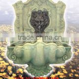 Fiberglass lion figurine garden wall fountain
