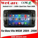 Wecaro WC-MB7507 Android 4.4.4 gps navigation 1080p for Benz Vito W638 in dash car dvd player 2004 2005 2006 2007 OBD2