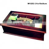 Boutique Wooden Fragrant Tea Packaging Box Design Window Inlaid With Silk Screen Logo W1253