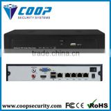 1U Chassis 4CH 5MP/3MP/1080P HDMI Output Support 50M 4 Channel POE NVR
