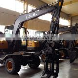 Used Mini Excavator, Excavator Used Cheap,LG6100 Excavator, Walking Wheel Excavator, 10T Wheel Excavator