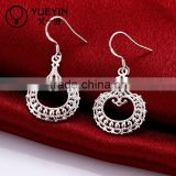 Fashion bijou accessories 925 pure sliver drop diamond earring                                                                         Quality Choice