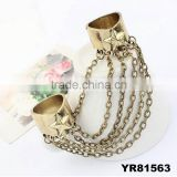 Punk Style Bronze Star Rock Tassel Ring