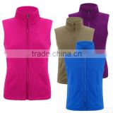 Outdoor Vest Polar Fleece Double Brush jacket for women