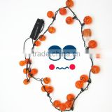 halloween decorations Christmas gifts LED flashing Necklace