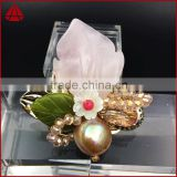 Crystal brooch Large rose crown inlay zircon rhinestone brooch lovely woman flower brooch